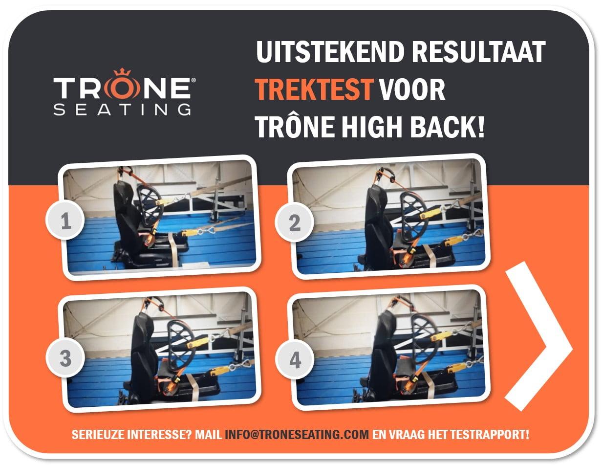 Trektest resulaat succes Trone High-Back